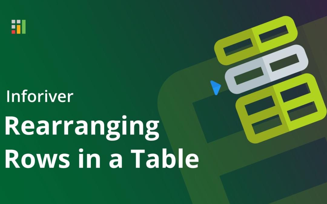 Rearranging rows in a table
